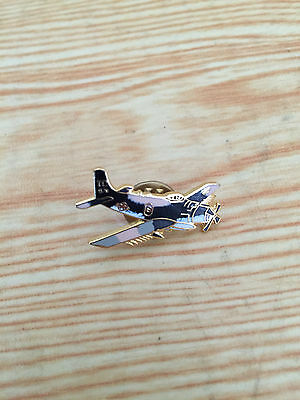Blue Fighter Airplane - Lapel Pin