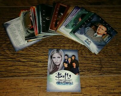 Buffy The Vampire Slayer The Men of Sunnydale Trading Cards Complete Base Set.
