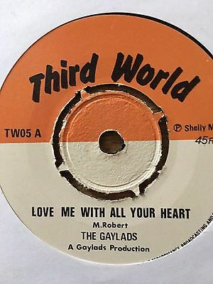 "REGGAE gaylads  'rock me with all your heart' 7"" original"