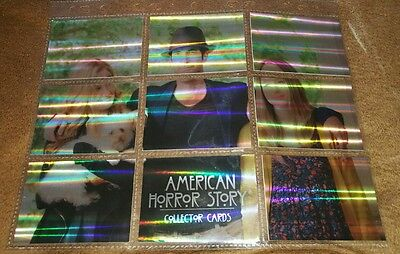 American Horror Story: Complete 9 Card Puzzle Chase Set ARP1-ARP9