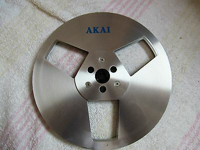 """Akai Brand. 7"""" Metal Empty Reel-To-Reel. Used. Decent Condition. Japan. Tape"""