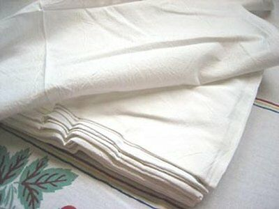 7 Plain Vintage Feedsack Style Tea Towel Flour Sack  Embroidery Days Week Lot