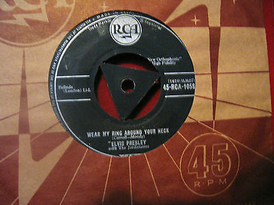 "Elvis Presley 1958 ""wear My Ring Around Your Neck"" Rca-1058 Tri Centre"