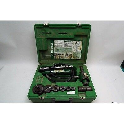 """Greenlee Slug Buster Knockout Punch and Hydraulic Driver Set (7306SB, For ½"""" Thr"""
