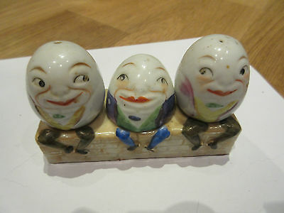 Antique Germany Foreign Humpty Dumpty Had A Great Fall Salt And Pepper Shakers