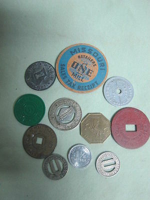 lot of 11 Tokens Tax, Transit +