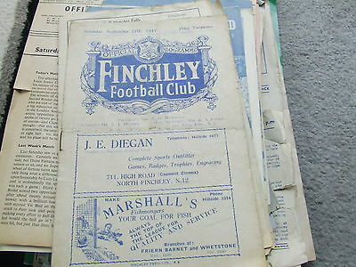 Finchley Reserves V Ram United 1947-8 Middlesex Intermediate Cup Ist Round