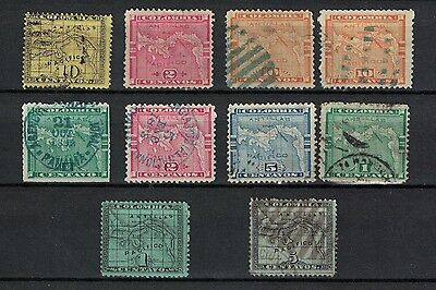 panama canal - columbia stamps 1880s onwards useful cancels Isthmus of Panama
