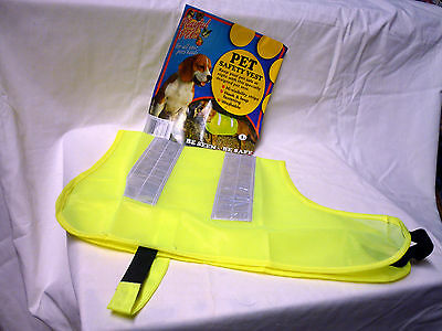 4 Safety pet Hi-visibility dog vests for large dogs