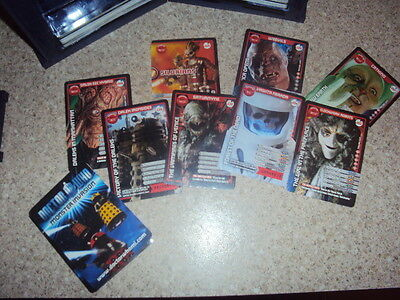 Dr WHO Monster Invasion Card Set x 218 + Tardis Collection Box
