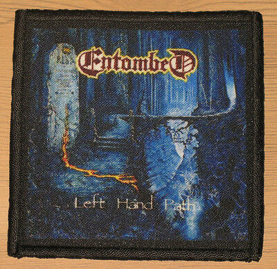 """ENTOMBED """"LEFT HAND PATH"""" silk screen PATCH"""