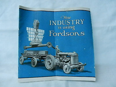 How Industry Is Using Fordson Tractor 24 Pages Very Good Condition