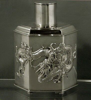 Chinese Export Silver Tea Caddy                                 COLLECTION