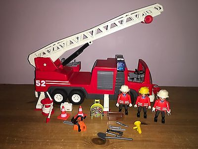 Playmobil 3879 Fire Engine With Figures And Accessories