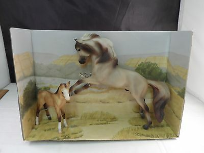 Breyer Reeves Mustang And Colt On Card Collectible Very Rare Color