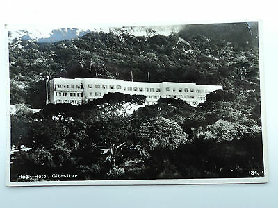 Rex Tobacconist old B&W RP PC Rock Hotel, Gibraltar. Posted 1970.
