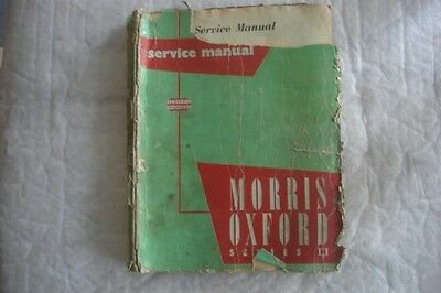 Classic Vintage Morris Oxford Series 2 Workshop Manual