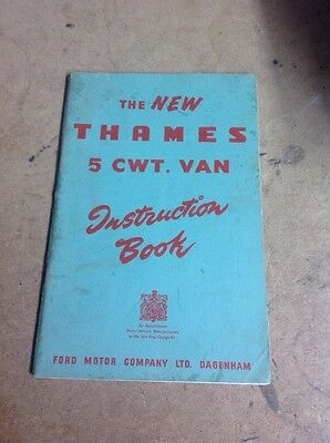 The New Thames 5 cwt. Van Instruction Book