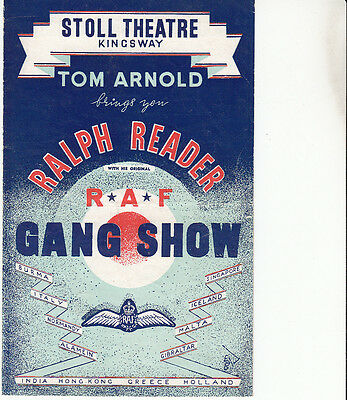 Ralph Reader RAF Gang Show, Stoll Theatre, Kingsway, London programme