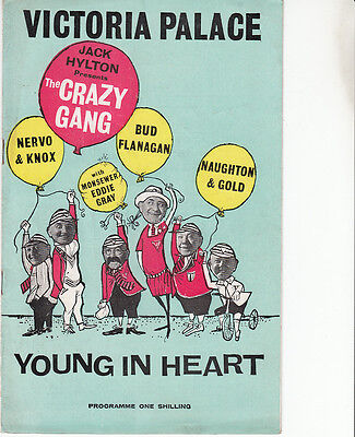 The Crazy Gang, Victoria Palace in Young at Heart. Theatre programme