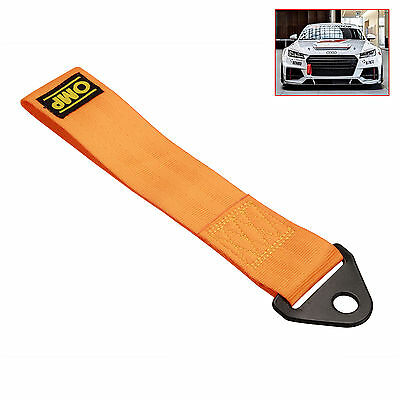 Sports Gold High Strength Racing Tow Strap Set for Front Rear Bumper Towing Hook