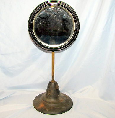 Beveled Mirror Stand Shaving Jewelry Antique Store Display Counter Top