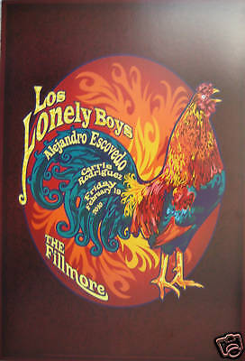 LOS LONELY BOYS FILLMORE POSTER Bill Graham F1042 Al Esconvido