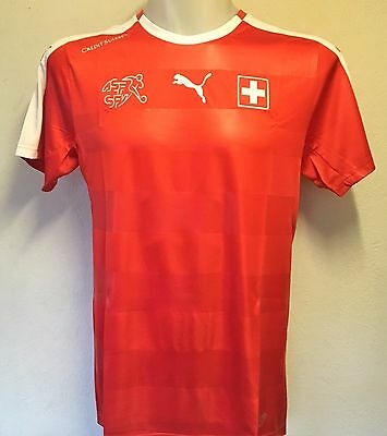Switzerland 2016/17 S/s Home Shirt By Puma Adults Size Small Brand New With Tags