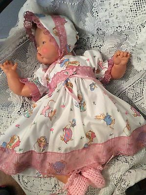 "Doll Clothes for 19""/20"" Large Thumbelina ""Brer Rabbit Dress Set"" by Maureen"