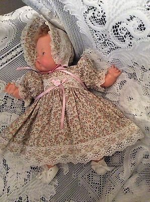 "Doll Clothes For 14"" Tiny Thumbelina ""Pretty Floral Dress Set"" by Maureen"