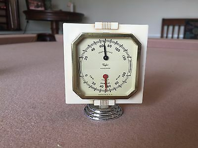 Vintage 1940S 1950S Accessory Auto Dash Thermometer/humid Gauge Chevy Ford