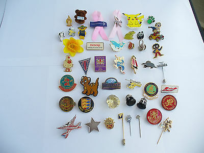 Vintage Badges & Pins, Charity & Others Lot Of 46