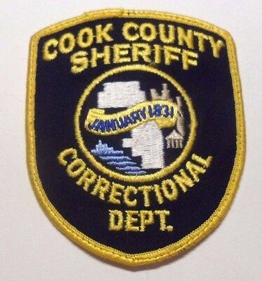 Old Cook County Illinois Sheriff Correctional Dept Patch