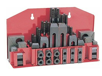 "52 Pc Clamping Kit Clamp 3/8"" T-Slot with 5/16""-18 Studs for Bridgeport Mill"
