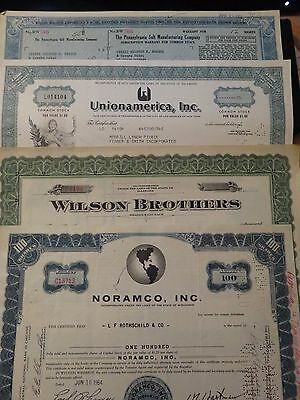 Scripophily Vintage Certificates Lot   U.s.a.  Share / Stock Bonds ****
