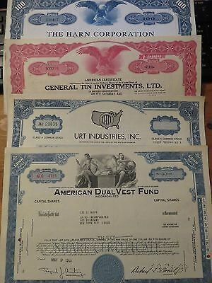 Scripophily Vintage Certificates Lot   U.s.a.  Share / Stock Bonds **