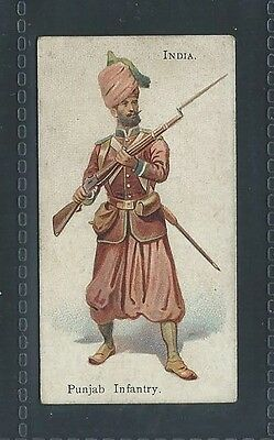 Bat British American Tobacco Soldiers Of World Leaf Back India Punjab Infantry