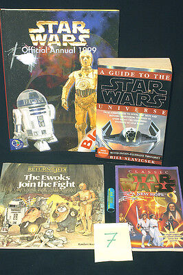 Star Wars Books, A Guide To Universe,new Hope,ewoks Join Fight,1999 Annual Ref 7