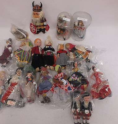 Job Lot of International Novelty Souvenir Character Dolls 1.2kg - C34