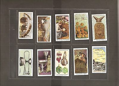 "Churchman's Cigarette Cards ""treasure Trove"" Complete Set Of 50 1937 Issue"
