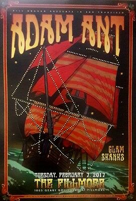 Mint Adam Ant Fillmore Poster 2017 Adam and the Ants