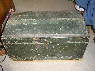 Large Vintage Pine Tool Chest
