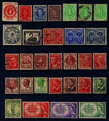 AUSTRALIA  OLD  MINT  AND  USED  COLLECTION  L115c