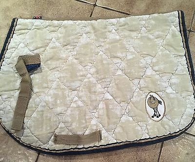 Figment Saddle Cloth - Full - Gold With Horse Logo