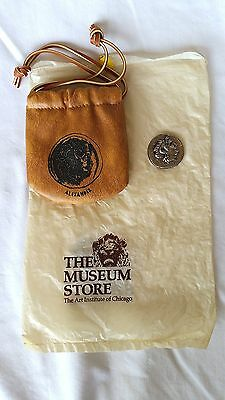 Collectible Art Institute of Chicago Alexander the Great Repro Coin and Pouch