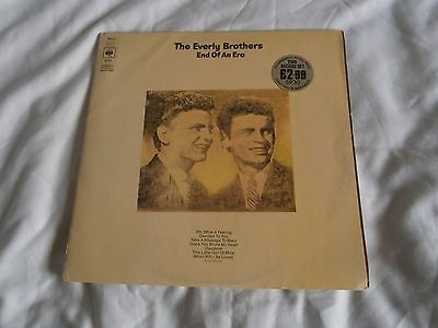 The Everly Brothers End Of An Era Promo Gatefold Double Lp