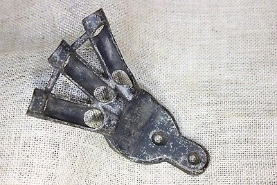 "holds 3 Flags flag holder 1/2"" bracket vintage post mount rustic old black"