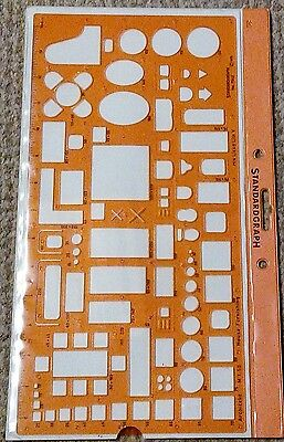 1:50 Scale Architectural Furniture Layout Metric Drawing Template Stencil