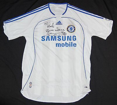 mens CHELSEA football club t-shirt top SIGNED by LAMPARD