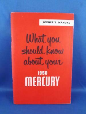 What You Should Know About Your 1950 Mercury Car Owners Manual Guide Maintenance